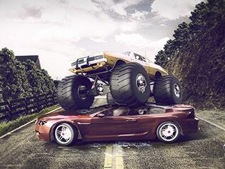 Play Free Monster Truck Nitro Jump - BrightestGames.com