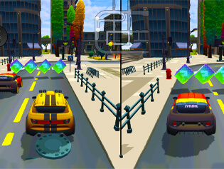 Play Free 2 Player City Racing 2 - BrightestGames.com